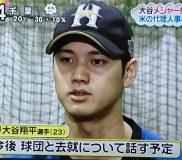 ⚾日ハムの大谷翔平選手 メジャー挑戦に向けて米国代理人決定⚾2017年11月8日記